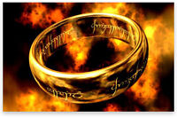 LOTR- Lord of the Rings, The One Ring + Snake Chain
