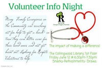 Respite Volunteer Info Night: Snacks/Draws Collingwood Library