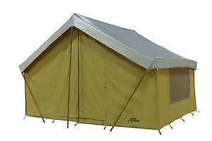 Canvas wall tent ebay for Canvas tent fly
