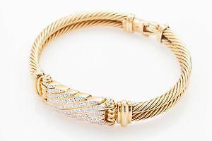 David Yurman Gold Diamond Bracelet