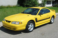 1994 Ford Mustang black strip Coupe (2 door)