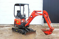MINI EXCAVATOR RENTALS!! ONLY $189 PER DAY !!
