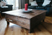 The Lodge coffee table square or rectangle available