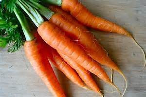 Organic sweet carrots