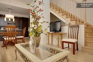 CONDO MEUBLE &EQUIPPE LUXUEUX NEUF 2-3CAC/FURNISHED CONDO 2-3BDR