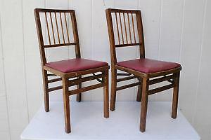 Nice Antique Wood Folding Chairs