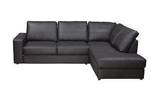 Genial Black Leather Corner Sofas