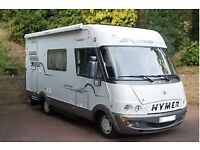 hymer a class / coach built motor home wanted