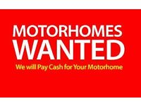 MOTORHOMES WANTED
