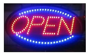 Super Bright LED Open Sign (Same as Picture, Brand New in Box).