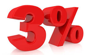 3% TOTAL COMMISSIONS WHEN YOU SELL YOUR PROPERTY!