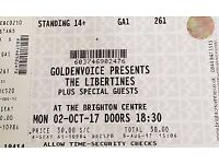 2x Libertines tickets for sale - Brighton 2nd Oct
