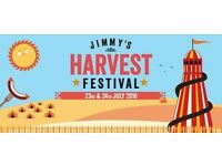 Jimmy's Farm - Jimmy's Harvest Festival - 23rd & 24th July 2016 - Family Weekend Camping Ticket