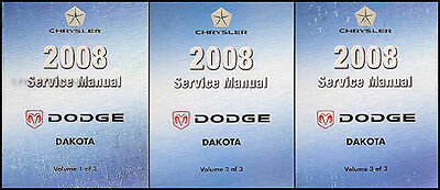 2008 Dodge Dakota Pickup Truck Repair Shop Manual Set