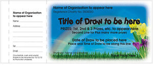Full Colour  Numbered and perforated Draw Tickets