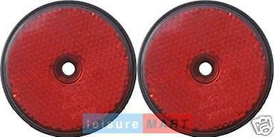 Pair of Red reflectors screw on type round