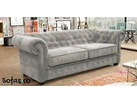 Sofas and co Sophia chesterfield Sofa bed in grey