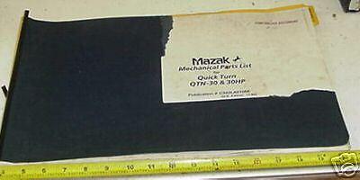 Mazak Quick Turn Qtn-30 30hp Cnc Lathe Parts Manual
