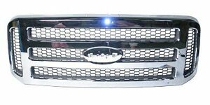 2005-2007 FORD F250 F350 F450 SUPER DUTY CHROME GRILLE