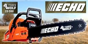 "CHAINSAW SALE!  ECHO CS-590-20""  TIMBERWOLF CHAINSAW ON SALE FOR $499.95! FIRST 10 SAW PURCHASES GET A FREE CARRY CASE!"