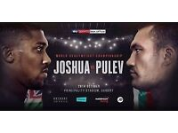 Floor tickets for Anthony Joshua Fight section A