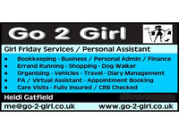 Girl Friday Services / Personal or Virtual Assistant