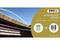 Playoff Final Ticket Aston Villa Vs Fulham