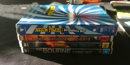 DVD Trilogies x4-Bourne,Sniper,Austin Powers, Back to the Future