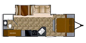 Travel Trailer- 2012 Trail Runner 26SLE by