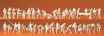 16329 Preiser Ho 42 Personajes Bomberos con Accesorios De Colorear Escala 1:87