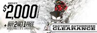 Up to $3000 OFF 2015 sleds with  3 year warranty