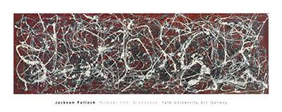 Pollock, Jackson Number 13A: Arabesque Druck abstrakt Grösse 101x40 Kunstdruck