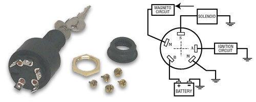 Marine/Boat Motor Starter Ignition Key Switch 3 POSTION  MP39102 OMC