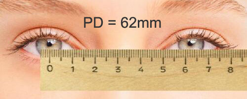 4. Measuring from centre to centre of your eyes?