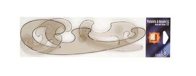 JPC Burmester Kurvenlineal Kurvensatz Zeichenschablone Kurven Schablone groß