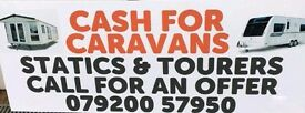 Wanted Static Caravans and Tourers Ayrshire Scotland