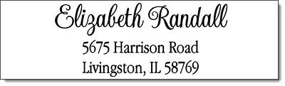 400 Personalized Name Return Address Labels 12 X 1.75 Inch Name Design 4