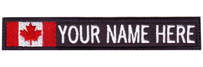 Canada ID Flag Personalized Embroidered Name / Text Tag (Personalization Canada)