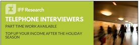 Telephone Interviewers Needed- £8.00-£9.75 p/h plus holiday pay!