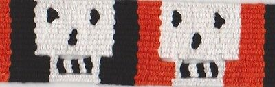 HALLOWEEN SKULLS TRIM custom handwoven in Guatemala -- 5 YARDS  way cool!