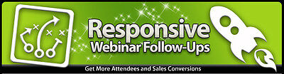 Responsive Webinar Follow Ups  Get More Sales Conversions  Videos On 1 Cd