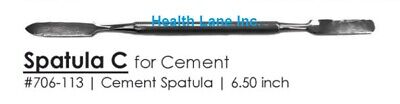 Dental Cement Mixing Spatula Stainless Steel Double Ended 6.5 Each