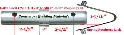 10 Scaffold Coupling Pin 1-716od X 9l With 1 Collar 10 Spring Retainer Cbm