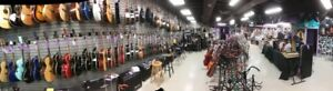 40 different makes of guitars from $99. and up