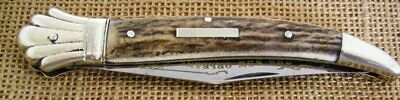 Frank Buster's Fight'N Rooster Toothpick Pocket Knife The New Orleans, Stag