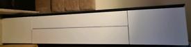 White gloss & Black Tv Unit/Sideboard