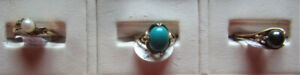 Grouping of Rings, Generally Smaller Sizes 10K, Sterling Jewelry