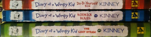Diary of a Wimpy kid books 2,3,5, do it yourself book