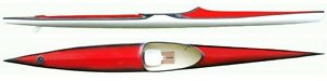 Racing white/black Delphine Kayak