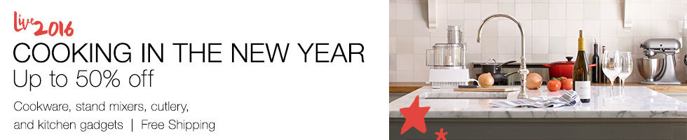 Cooking in the new year up to 50% off | Cookware, stand mixers, cutlery, and kitchen gadgets